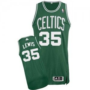 Maillot Adidas Vert (No Blanc) Road Authentic Boston Celtics - Reggie Lewis #35 - Homme