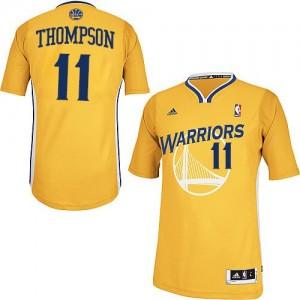 Golden State Warriors #11 Adidas Alternate Or Swingman Maillot d'équipe de NBA sortie magasin - Klay Thompson pour Enfants