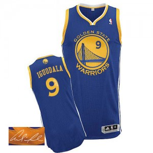 Maillot Authentic Golden State Warriors NBA Road Autographed Bleu royal - #9 Andre Iguodala - Homme