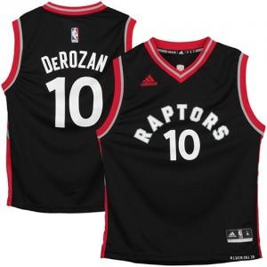 Maillot Adidas Noir Authentic Toronto Raptors - DeMar DeRozan #10 - Homme