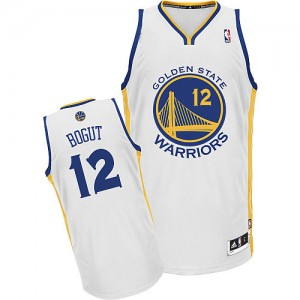 Maillot Adidas Blanc Home Authentic Golden State Warriors - Andrew Bogut #12 - Homme