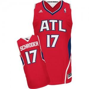 Atlanta Hawks #17 Adidas Alternate Rouge Swingman Maillot d'équipe de NBA sortie magasin - Dennis Schroder pour Homme