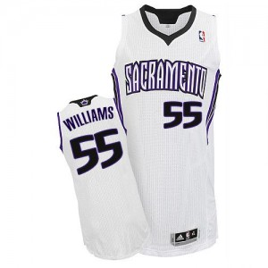 Maillot NBA Authentic Jason Williams #55 Sacramento Kings Home Blanc - Homme