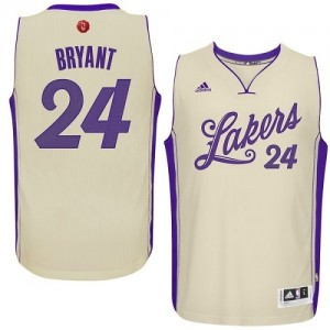Maillot NBA Swingman Kobe Bryant #24 Los Angeles Lakers 2015-16 Christmas Day Blanc - Homme