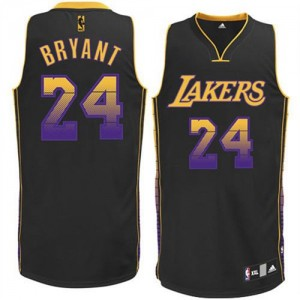Maillot Adidas Noir Vibe Authentic Los Angeles Lakers - Kobe Bryant #24 - Homme