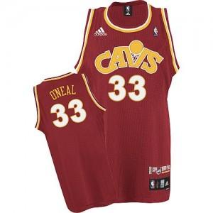 Maillot NBA Cleveland Cavaliers #33 Shaquille O'Neal Orange Mitchell and Ness Swingman CAVS Throwback - Homme