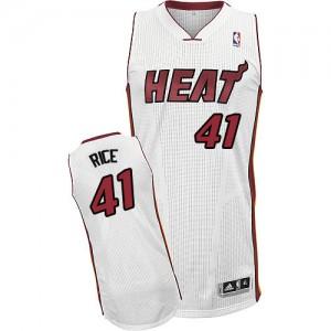 Miami Heat #41 Adidas Home Blanc Authentic Maillot d'équipe de NBA Vente pas cher - Glen Rice pour Homme