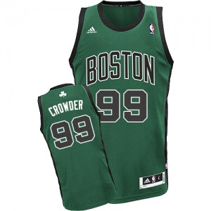 Maillot NBA Swingman Jae Crowder #99 Boston Celtics Alternate Vert (No. noir) - Homme