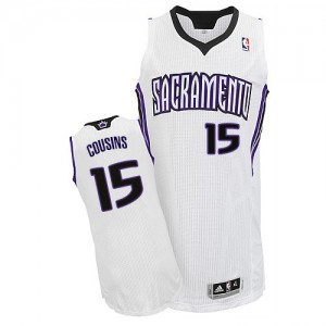 Maillot NBA Authentic DeMarcus Cousins #15 Sacramento Kings Home Blanc - Homme