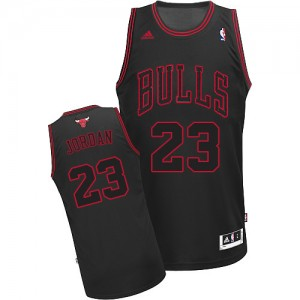 Maillot NBA Noir Michael Jordan #23 Chicago Bulls Authentic Enfants Adidas
