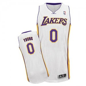 Maillot Authentic Los Angeles Lakers NBA Alternate Blanc - #0 Nick Young - Homme