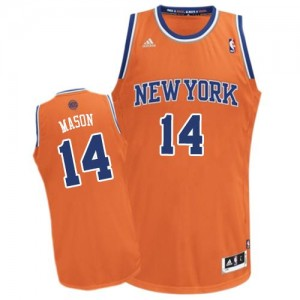 New York Knicks Anthony Mason #14 Alternate Swingman Maillot d'équipe de NBA - Orange pour Homme