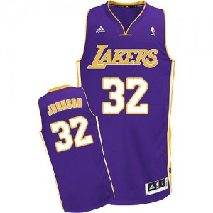 Los Angeles Lakers #32 Adidas Road Violet Swingman Maillot d'équipe de NBA en ligne pas chers - Magic Johnson pour Enfants