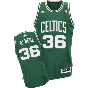 Maillot NBA Boston Celtics #36 Shaquille O'Neal Vert (No Blanc) Adidas Swingman Road - Homme