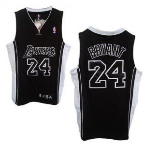 Maillot Adidas Noir Shadow Champions Patch Authentic Los Angeles Lakers - Kobe Bryant #24 - Homme