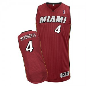 Maillot Authentic Miami Heat NBA Alternate Rouge - #4 Josh McRoberts - Homme