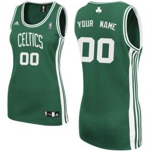 Boston Celtics Swingman Personnalisé Road Maillot d'équipe de NBA - Vert (No Blanc) pour Femme