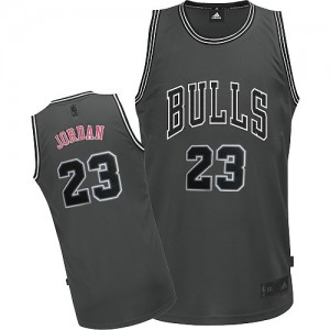 Chicago Bulls Michael Jordan #23 Graystone II Fashion Authentic Maillot d'équipe de NBA - Gris pour Homme