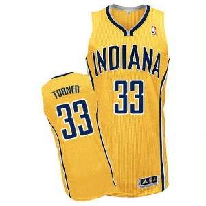 Maillot NBA Authentic Myles Turner #33 Indiana Pacers Alternate Or - Homme