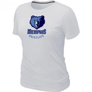 Memphis Grizzlies Big & Tall T-Shirts d'équipe de NBA - Blanc pour Femme