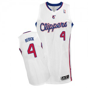 Maillot NBA Blanc JJ Redick #4 Los Angeles Clippers Home Authentic Homme Adidas