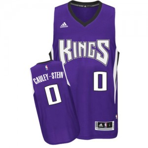 Sacramento Kings #0 Adidas Road Violet Swingman Maillot d'équipe de NBA prix d'usine en ligne - Willie Cauley-Stein pour Homme
