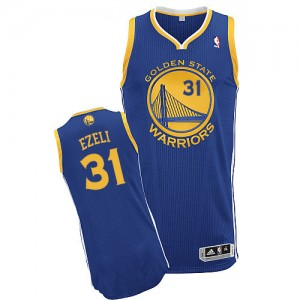 Maillot NBA Authentic Festus Ezeli #31 Golden State Warriors Road Bleu royal - Homme