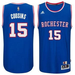 Maillot NBA Authentic DeMarcus Cousins #15 Sacramento Kings 2014-15 Hardwood Classics Bleu clair - Homme