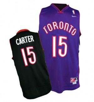 Maillot NBA Authentic Vince Carter #15 Toronto Raptors Throwback Noir / Violet - Homme