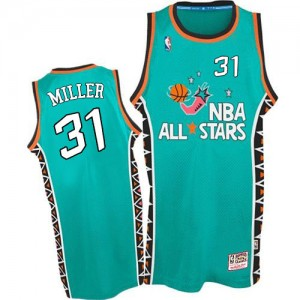 Indiana Pacers #31 Mitchell and Ness 1996 All Star Throwback Bleu clair Authentic Maillot d'équipe de NBA Magasin d'usine - Reggie Miller pour Homme