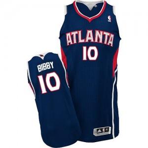 Maillot Authentic Atlanta Hawks NBA Road Bleu marin - #10 Mike Bibby - Homme
