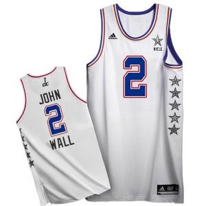 Washington Wizards #2 Adidas 2015 All Star Blanc Authentic Maillot d'équipe de NBA prix d'usine en ligne - John Wall pour Homme