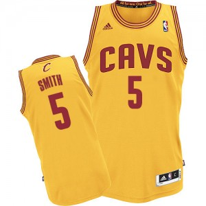 Maillot Authentic Cleveland Cavaliers NBA Alternate Or - #5 J.R. Smith - Homme