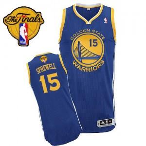 Golden State Warriors #15 Adidas Road 2015 The Finals Patch Bleu royal Authentic Maillot d'équipe de NBA en vente en ligne - Latrell Sprewell pour Homme