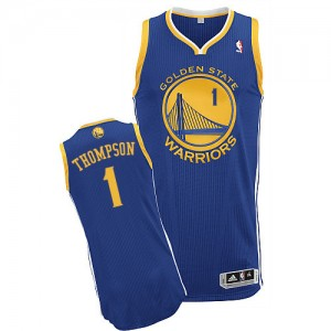 Maillot NBA Golden State Warriors #1 Jason Thompson Bleu royal Adidas Authentic Road - Homme