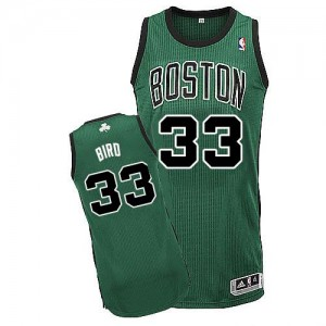 Maillot NBA Vert (No. noir) Larry Bird #33 Boston Celtics Alternate Authentic Enfants Adidas