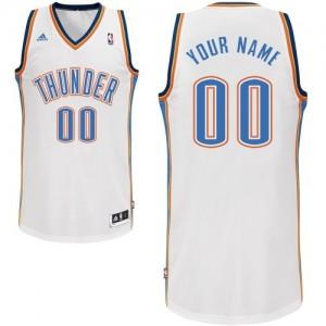 Maillot NBA Swingman Personnalisé Oklahoma City Thunder Home Blanc - Enfants