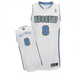 Maillot NBA Authentic Danilo Gallinari #8 Denver Nuggets Home Blanc - Homme