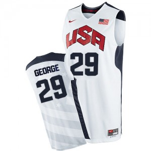 Maillots de basket Swingman Team USA NBA 2012 Olympics Blanc - #29 Paul George - Homme