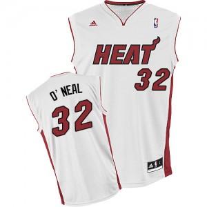 Miami Heat Shaquille O'Neal #32 Home Swingman Maillot d'équipe de NBA - Blanc pour Homme