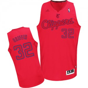 Maillot Adidas Rouge Big Color Fashion Swingman Los Angeles Clippers - Blake Griffin #32 - Homme