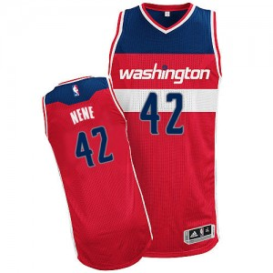 Maillot Adidas Rouge Road Authentic Washington Wizards - Nene #42 - Homme