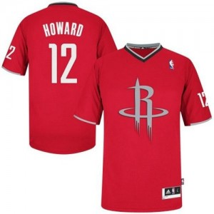 Maillot Adidas Rouge 2013 Christmas Day Authentic Houston Rockets - Dwight Howard #12 - Homme