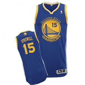Golden State Warriors #15 Adidas Road Bleu royal Authentic Maillot d'équipe de NBA Discount - Latrell Sprewell pour Homme