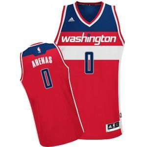 Washington Wizards #0 Adidas Road Rouge Swingman Maillot d'équipe de NBA à vendre - Gilbert Arenas pour Homme