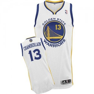Maillot Authentic Golden State Warriors NBA Home Blanc - #13 Wilt Chamberlain - Homme