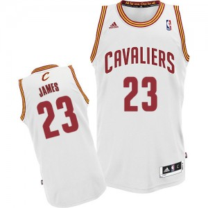 Maillot Adidas Blanc Home Swingman Cleveland Cavaliers - LeBron James #23 - Homme