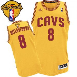 Maillot NBA Swingman Matthew Dellavedova #8 Cleveland Cavaliers Alternate 2015 The Finals Patch Or - Homme