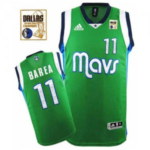 Maillot Adidas Vert Champions Patch Swingman Dallas Mavericks - Jose Barea #11 - Homme