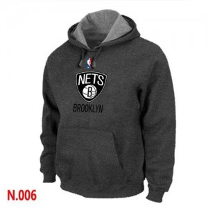 Sweat à capuche NBA Gris foncé Brooklyn Nets Homme